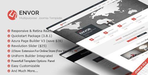 ThemeForest - Envor v3.1.0 - Fully Multipurpose Joomla Template - 10472316