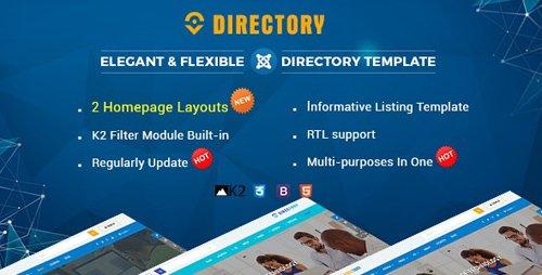 ThemeForest - Directory v3.9.6 - Responsive Ultimate Listing Joomla Template - 19427966