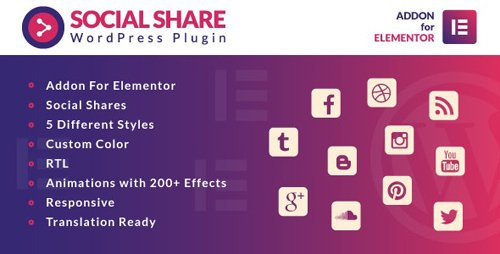 CodeCanyon - Social Share for Elementor WordPress Plugin v1.0 - 25615824