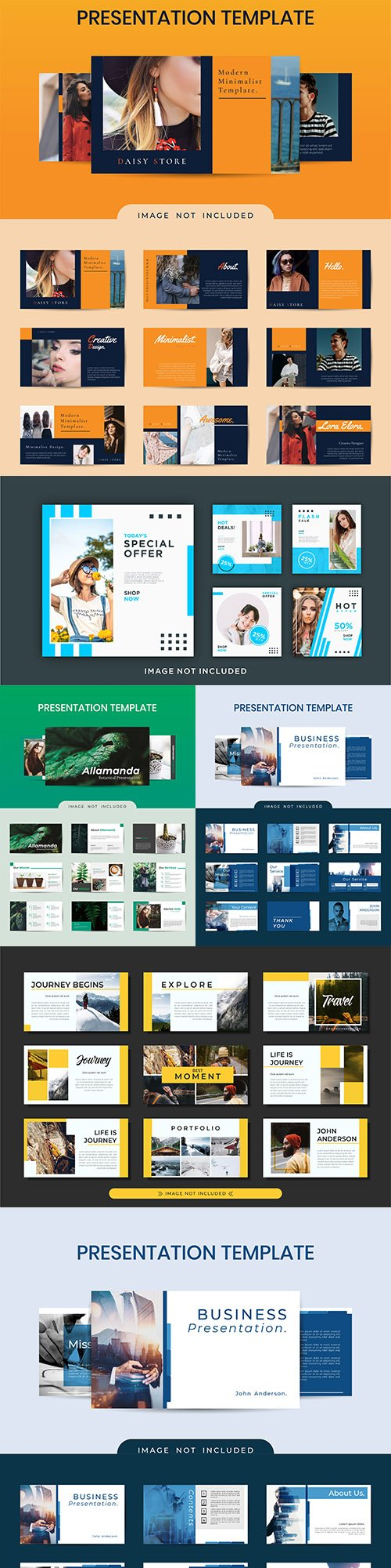 Business presentation template website design
