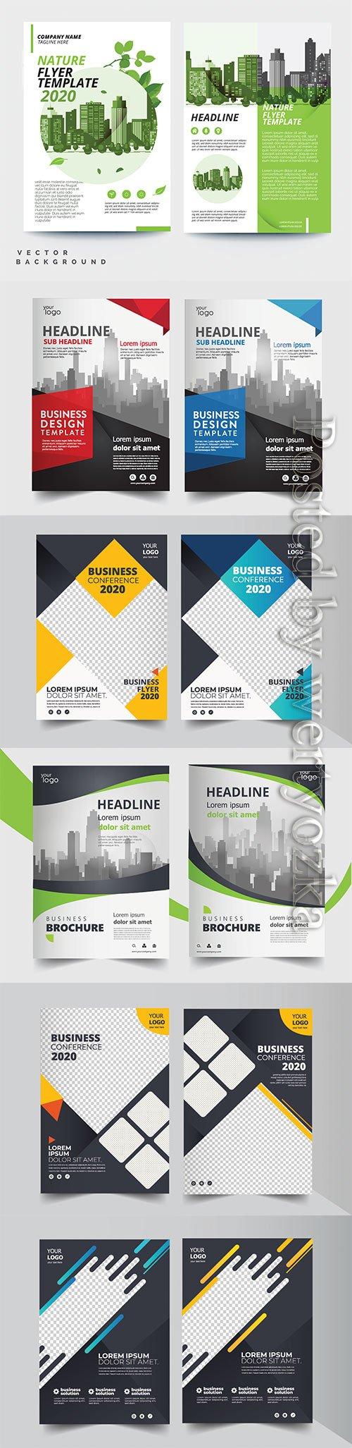 Brochure vector design, magazine cover, annual report