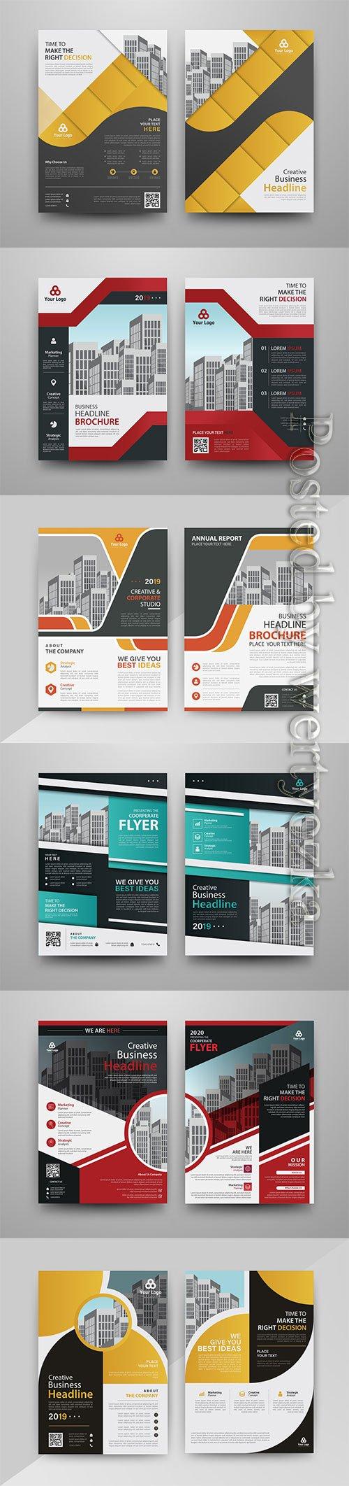 Brochure vector design,  annual report, magazine cover