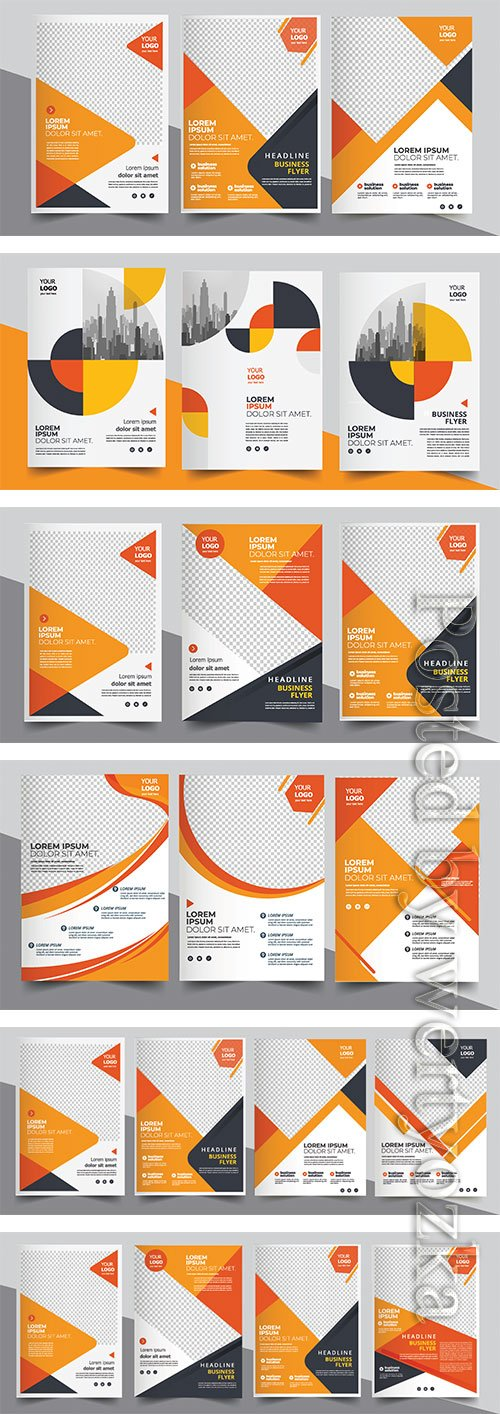 Brochure vector design, cover modern layout, annual report