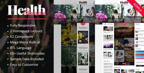 ThemeForest - HealthMag v3.9.6 - Multipurpose News/Magazine Joomla Template - 14603495