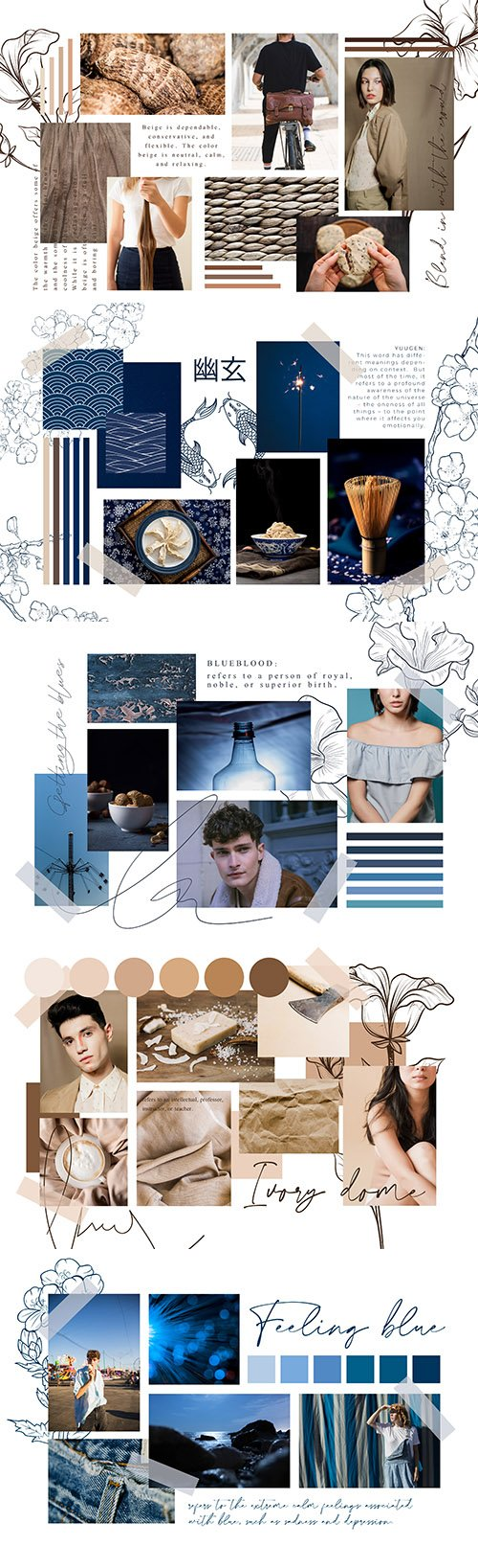Photo collage from photo vector design template