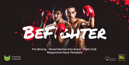 ThemeForest - BeFighter v1.0 - Boxing Event / Mixed Martial Arts / Fight Club Responsive Muse Template - 19523460