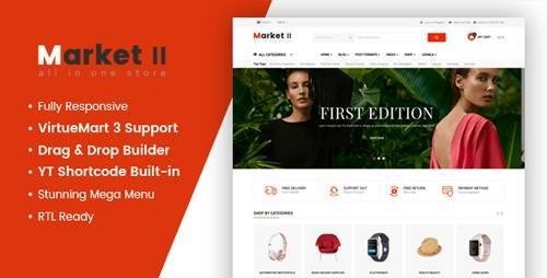 ThemeForest - Market II v3.9.6 - Multipurpose eCommerce VirtueMart 3 Joomla Template - 21460892