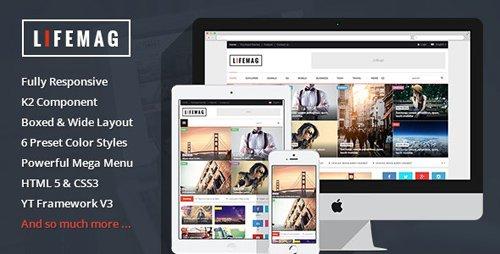ThemeForest - LifeMag v3.9.6 - Responsive Magazine Joomla Template - 10040507