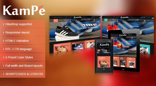 SmartAddons - SJ Kampe v3.9.6 - Responsive Joomla eCommerce Template