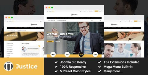 ThemeForest - Justice v3.9.6 - Attorney and Law Firm Joomla Template - 18637691