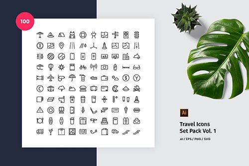 Travel 100 Set Icon Pack Vol. 1