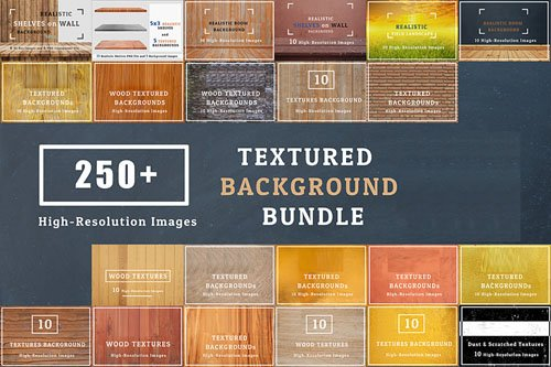 250+ Texture Backgrounds Full Pack