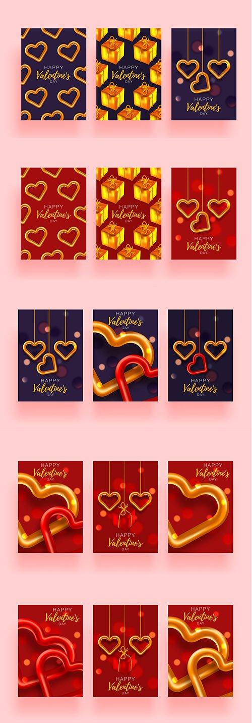 Valentines Day Banner Template Set