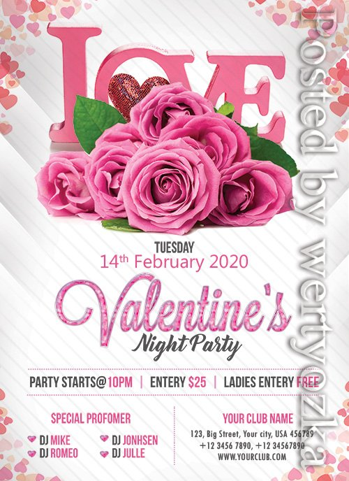 Premium Valentines Party - Premium flyer psd template