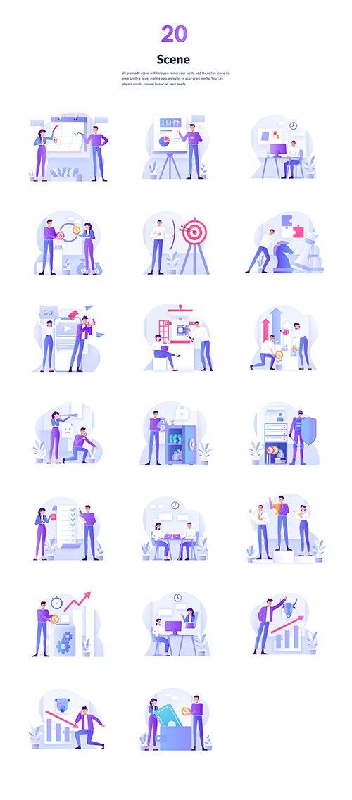 Bussines & Investment Illustration Kit