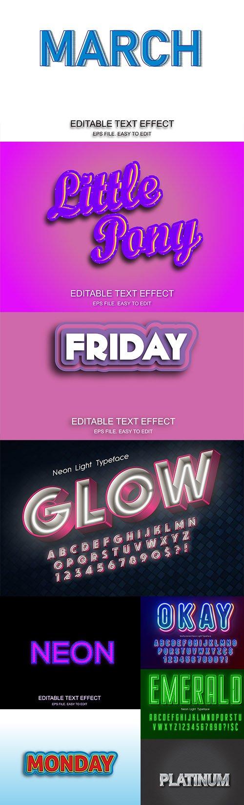 9 Premium Text Effect Set