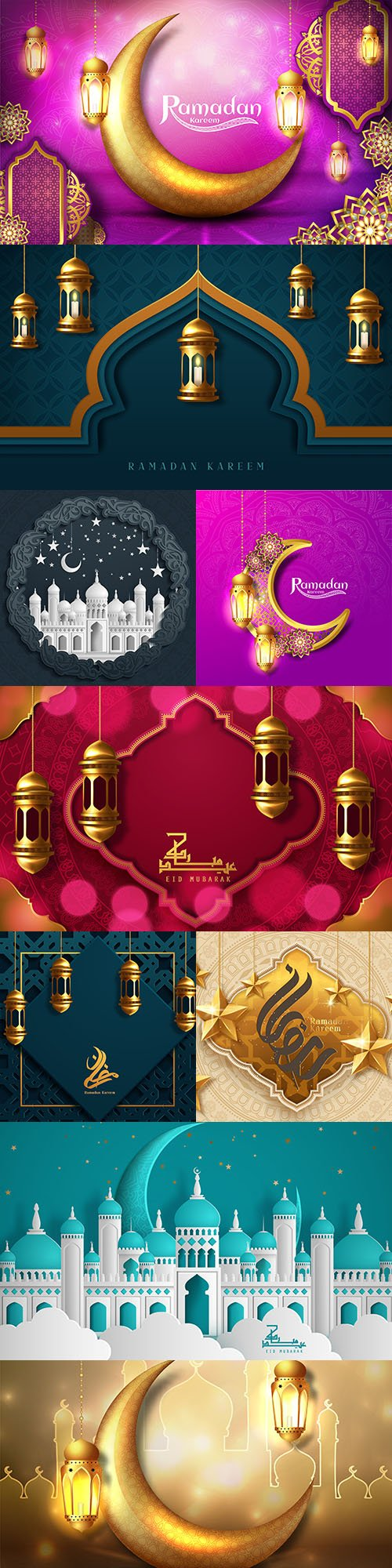 Ramadan Kareem Arab calligraphy design illustrations 18
