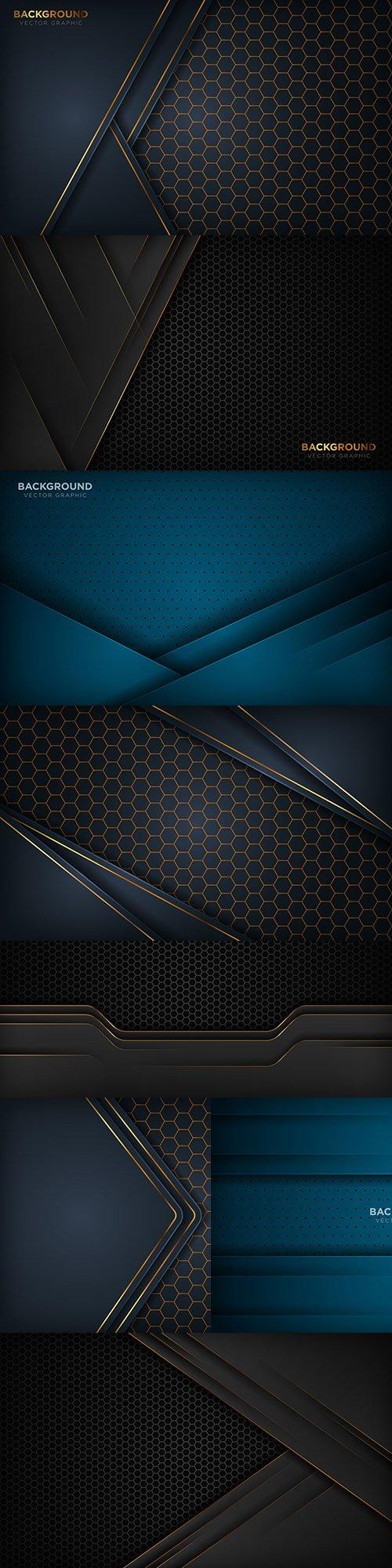 Dark background and gold design decorative element 12
