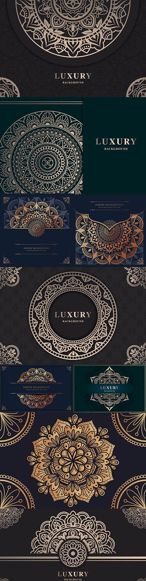 Luxury mandala gold design oriental pattern