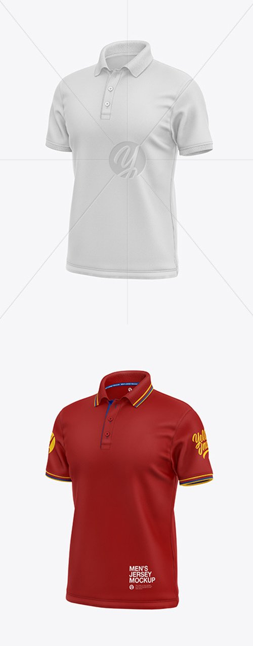 Mens Short Sleeve Polo Shirt Mockup 54495