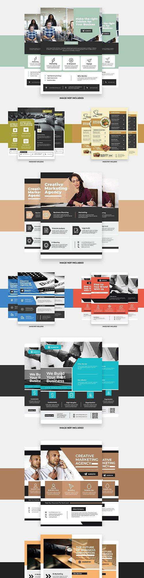 Presentation corporate flyer creative colorful design
