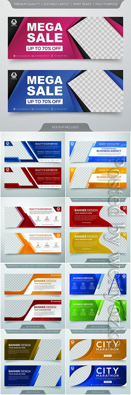 Set of business banner template design