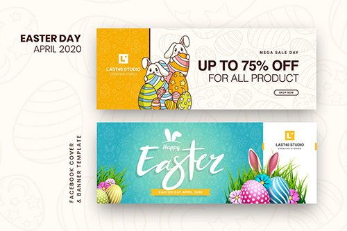 Easter Day Facebook Cover & Banner Template 2