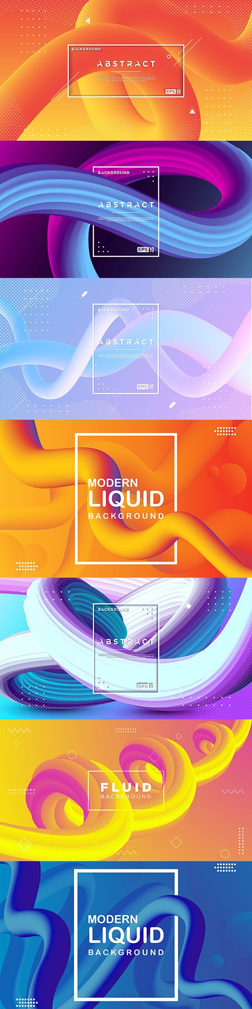 Color abstract background fluid wave 3d design