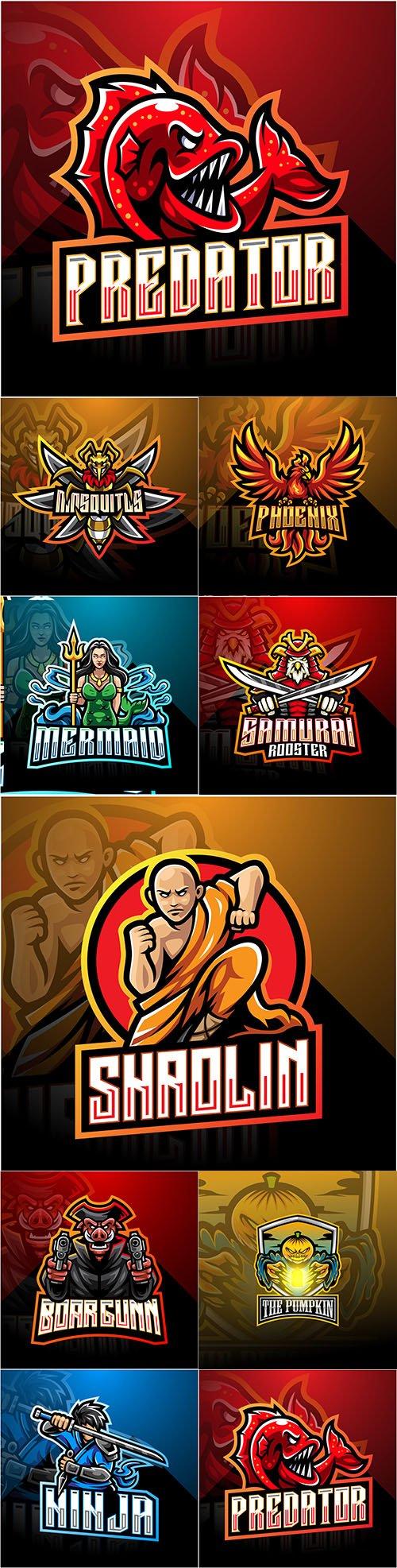Cybersport mascot design logo illustration 19