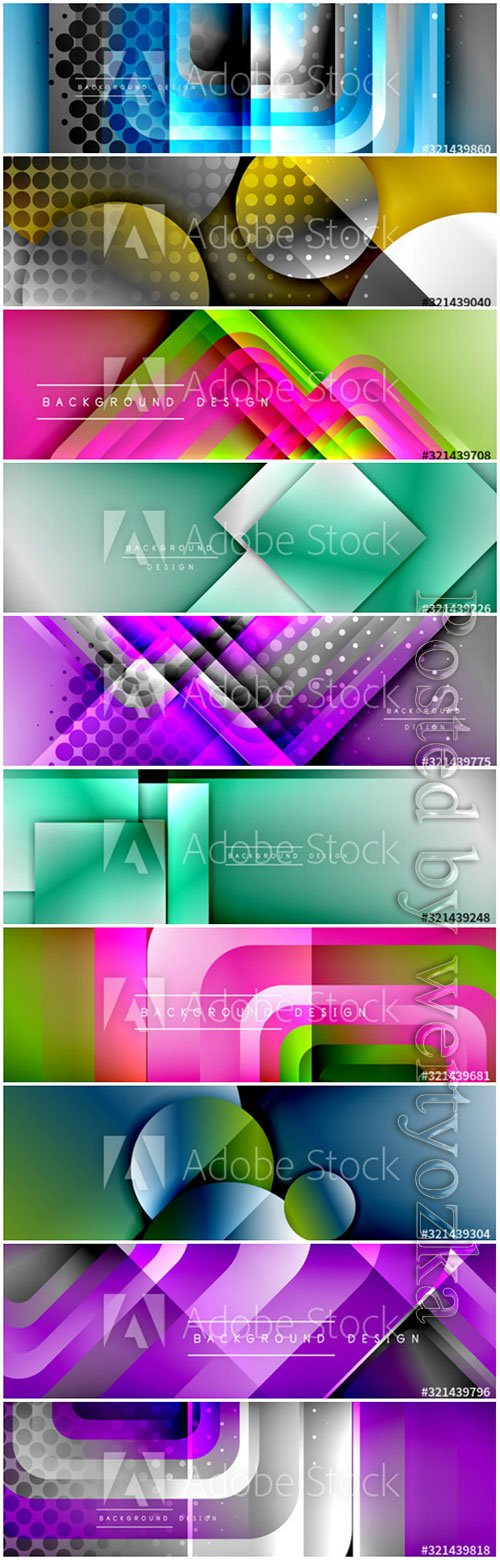 Beautiful abstract banners in vector
