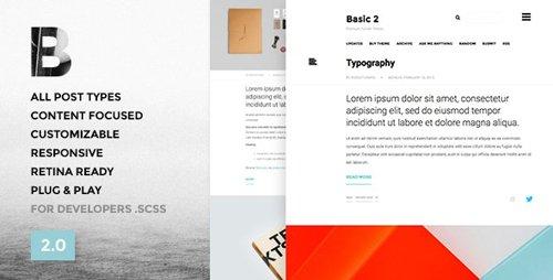 ThemeForest - Basic 3 v3.2.1 - One Column, Blogging Tumblr Theme - 9746114