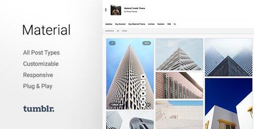 ThemeForest - Material v2.2.2 - Responsive, Full Width, Grid Tumblr Theme for Photographers - 10703443