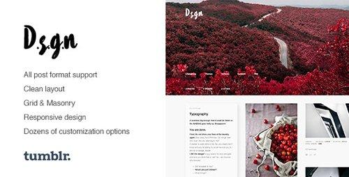 ThemeForest - D.S.G.N v1.0.6 - Grid-Based, Gallery Tumblr Theme - 12371149