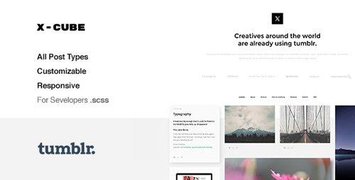ThemeForest - X-Cube v1.2.4 - Portfolio, Grid-Based Tumblr Theme - 12203824