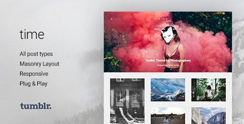 ThemeForest - Time v2.0.0 - Photography Grid Tumblr Theme - 11215231