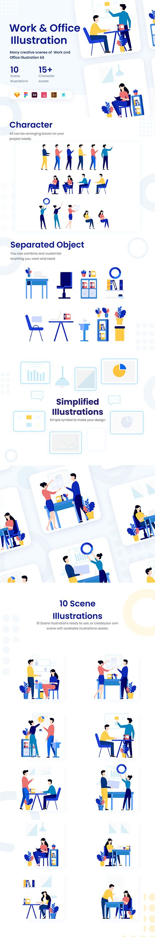 Illustration Work & Office KIT