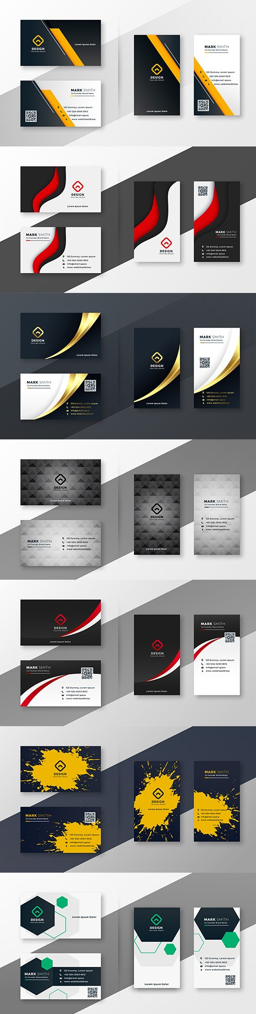 Elegant corporate business card template