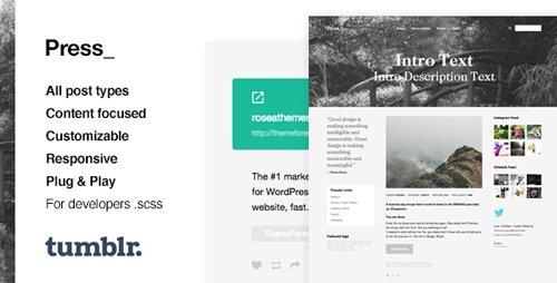 ThemeForest - Press v1.0.10 - Premium Blogging Tumblr Theme - 11780227
