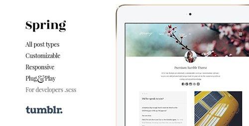 ThemeForest - Spring v1.4.1 - Two Column Portfolio Tumblr Theme - 11366587