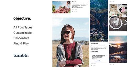 ThemeForest - Objective v1.2.7 - Photo Grid Tumblr Theme - 13410476
