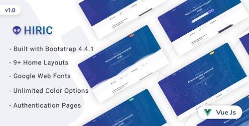 ThemeForest - Hiric v1.0 - VueJs Landing Page Template - 25735997