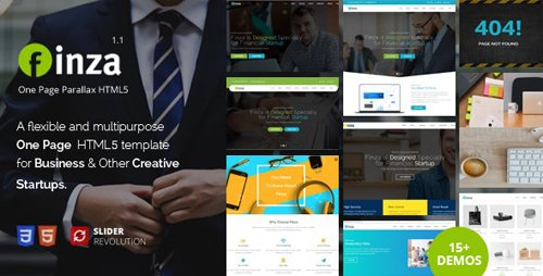 ThemeForest - Finza v1.1 - One Page Parallax (Update: 4 May 18) - 21600477