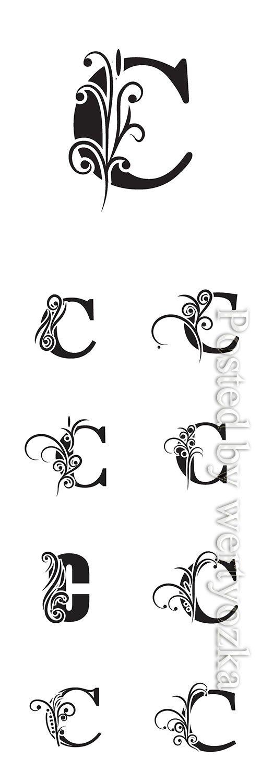 Letter C logo template vector icon design