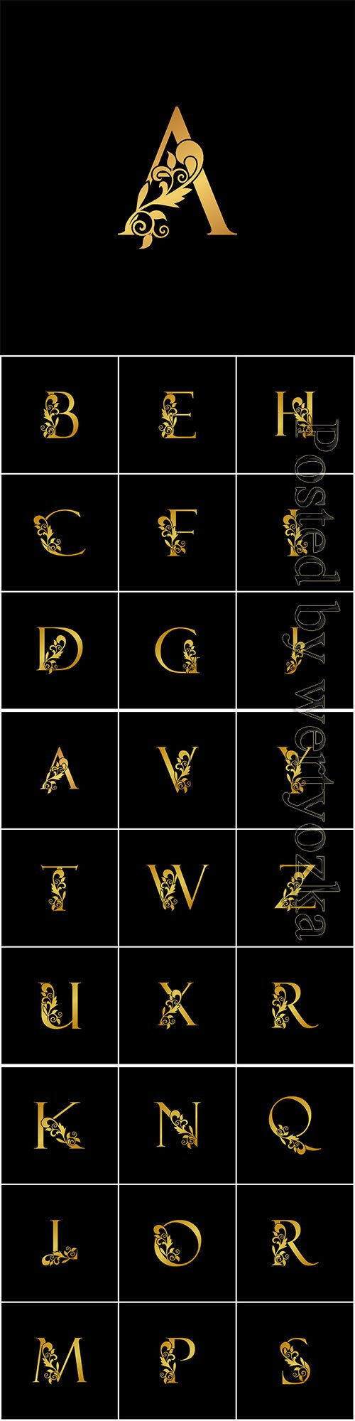 Golden luxurious initial letter logo icon