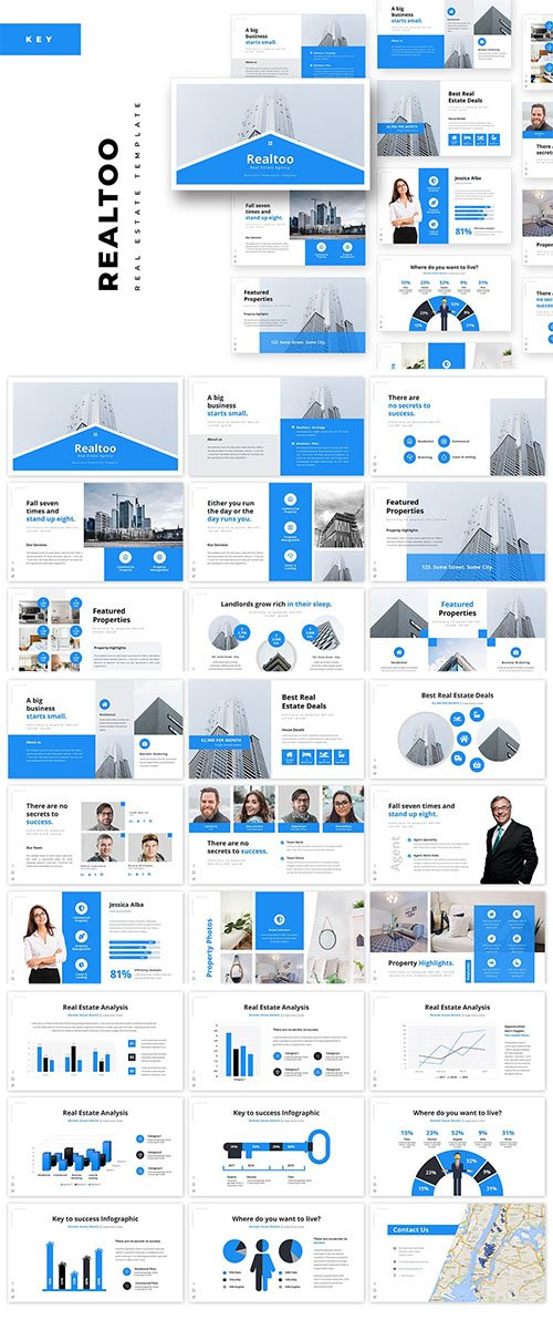Realtoo Real Estate Keynote Template
