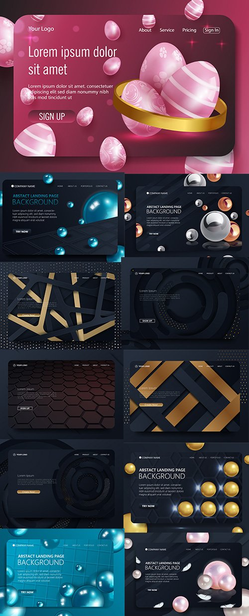 Website Landing Page Template Pack