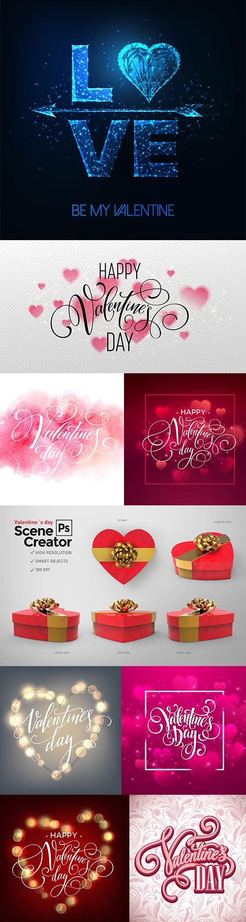 Happy Valentines Day Greeting Card and Bonus Scene Creator