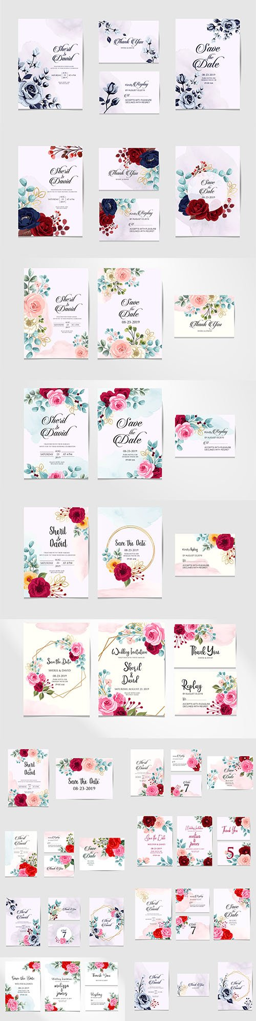 Elegant Modern Beauty Wedding Templates