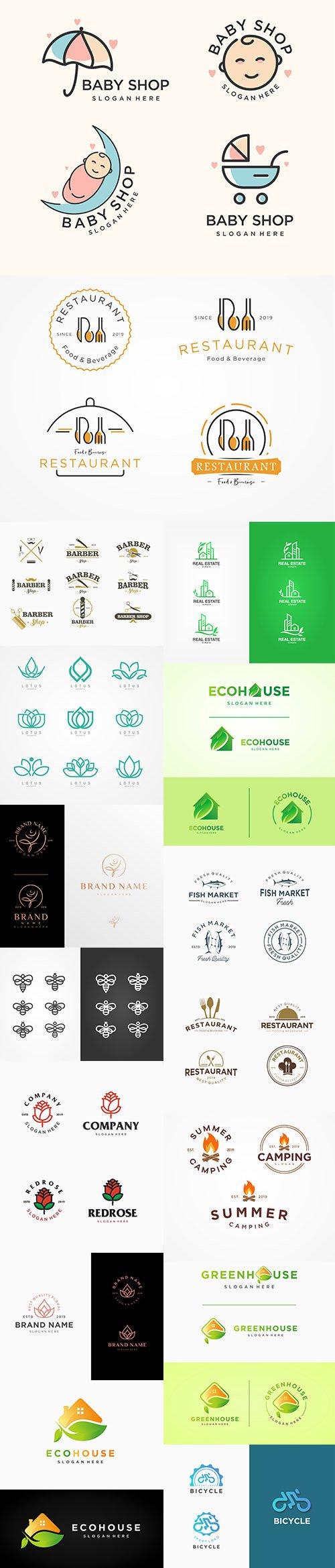 Various Sets of Vector Logos Template