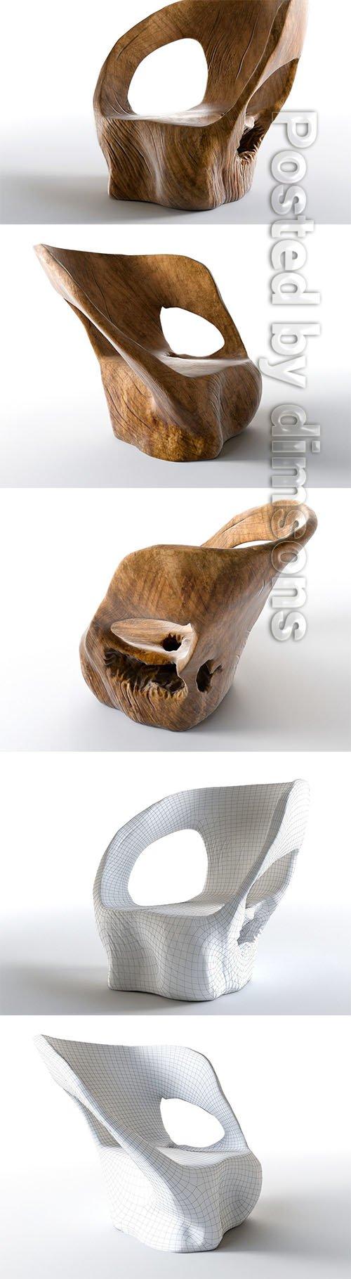 Cara Armchair 3D model